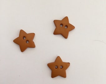 Star Buttons, set of 3