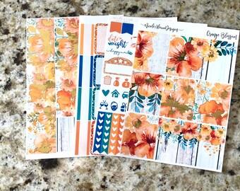 FOIL Orange Blossom Mini Kit, planner stickers