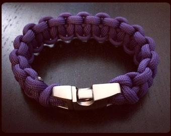 Purple Paracord 550 Bracelet