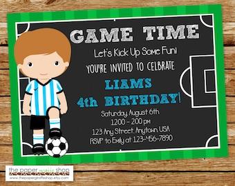 Soccer field invite Etsy