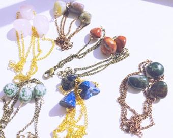 SALE: Gemstone Nugget Trio Bracelet