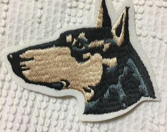 Beautiful DOBERMAN Pinscher PATCH Detailed Stitching L@@K