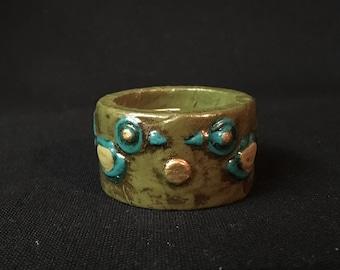 Set of 6 Fitz Floyd Napkin Rings Arabesque Style Made in Japan