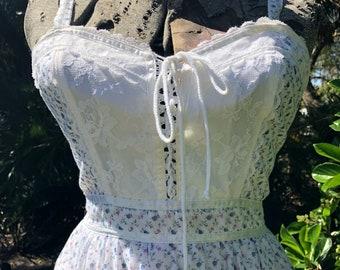 Vintage gunne sax dress,prairie dress, boho,hippie,festival,vintage dress