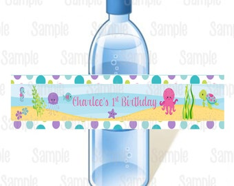 Printable Under The Sea Birthday Water Bottle Labels