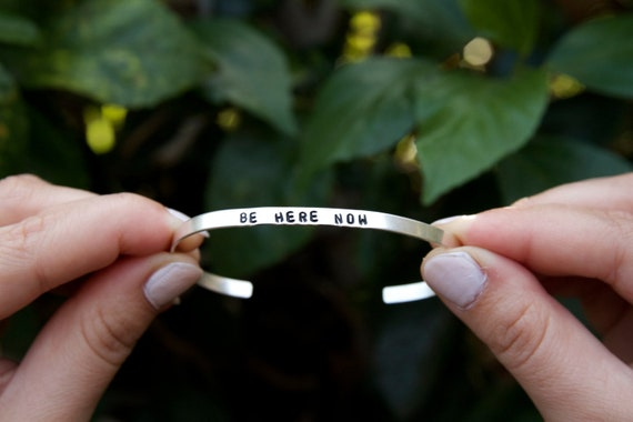Be here now | Be Here Now Bracelet | Mindfulness gift | Here and Now | Spiritual Jewelry | Be Here Now Jewelry | Girlfriend yoga gift