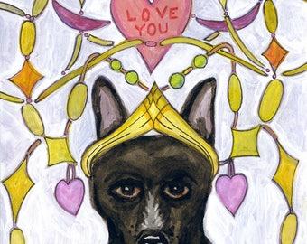 "Wayne Valentine Card Original Art Giclee Print 6"" x 4"""
