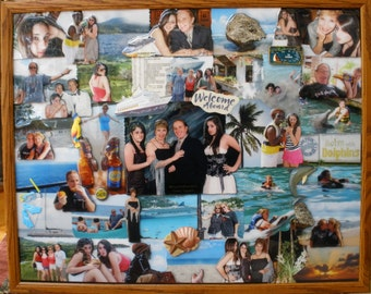 "Vacation 3D Photo Collage (24""x30"" shown)"