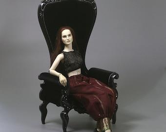 BJD Doll Armchair 1/3 High Throne Rococo Royal Furniture - CUSTOM ORDER