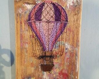 Hot Air Balloon nail and string art
