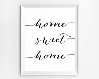 Home Sweet Home sign, Our first home, Home Sweet Home wall art, Home Decor Sign, Sweet home printable, Printable Quotes, Wall Decor