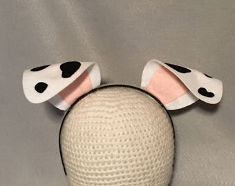 Puppy Dalmatian Dalmation Dog Ears birthday party favors black and white spots headband Halloween costume cosplay animal adult child