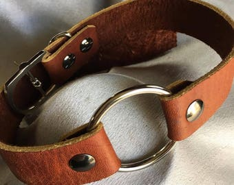 Beautifully handcrafted daily wear O ring slave/sub collar