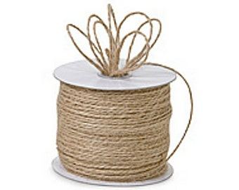 "NATURAL TAN 1/16"" x 25yds Jute Burlap 2-ply Twine (Free Shipping!)"