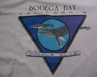 Vintage 90's Bodega Bay Whale Club Souvenir Pink Long Sleeve Shirt Size XL