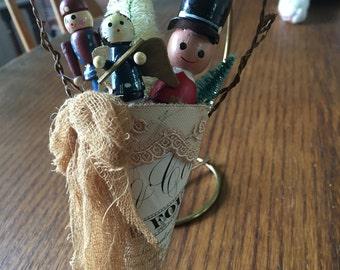 Vintage Christmas mussie tussie ornament