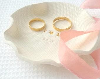 Porta alianzas Boda, porta anillos personalizado, 6 aniversario regalo, plato joyas, regalos compromiso a novia, 40 cumple regalos mujer