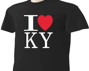 I Love Kentucky T-Shirt Heart KY
