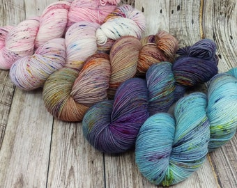 Fading Point Kit - Hand Dyed Yarn - Fingering Weight - SW Merino / Nylon - 113 grams each - 8 ply