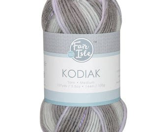 Fog Bank Fair Isle Kodiak Space Dye Yarn Wool (Pre-Order)