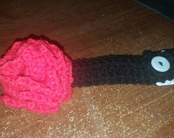Crochet rosette adjustable headband
