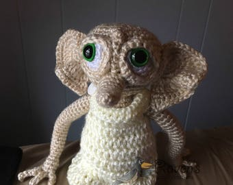 House Elf Amigurumi - MADE to ORDER - Book lovers, Elves, Magic