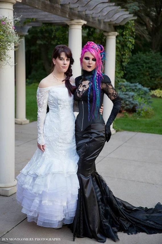 Goth Mermaid Fetish Dress Vampire Dress Gothic Wedding Dress