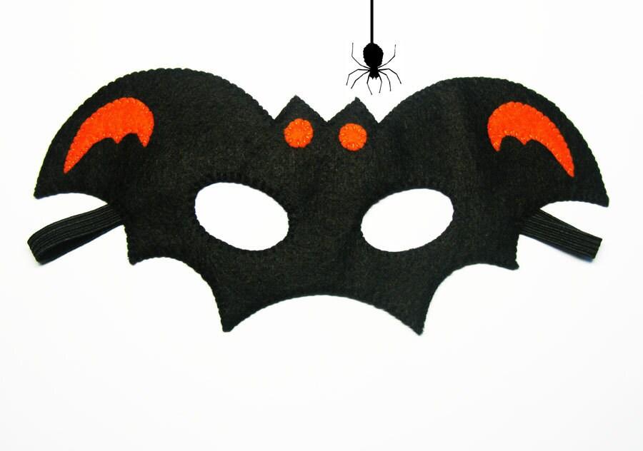 Bat Halloween mask party favor Orange Black for kids boy adult