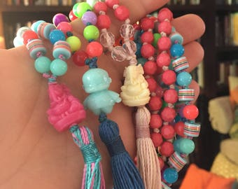 3/4 length mala beads for kids