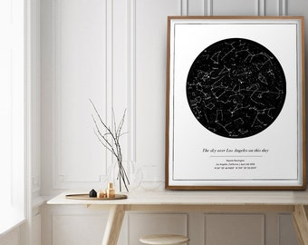 CUSTOM Star Map Print Engagement gifts for couple Anniversary gifts for boyfriend Astronomy Gifts Wedding Gifts for Couple The Night Sky