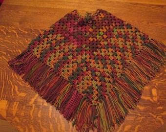 crochet poncho  size 12
