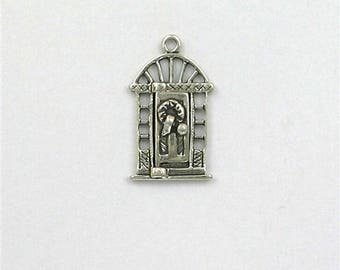 Sterling Silver Movable Christmas Door Charm