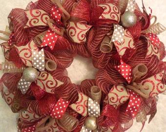 Marquee wreath, Christmas Marquee, Christmas Marquee wreath, Merry Christmas Wreath, Christmas, Christmas Wreath, Red wreath