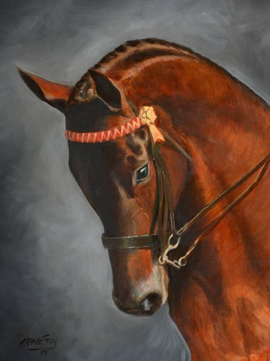 Steve Fray Fine Art Rogan Pferde Ölgemälde Dies