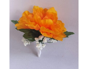 Orange Boutonnieres Orange Wedding Boutonniere Orange Groomsmen Boutonnieres Orange Groom Boutonniere Orange Men Boutonnieres Orange Corsage