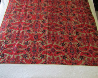 Vintage Tablecloth 1970's Bold Retro Colors and Pattern SALE
