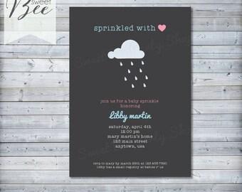 Printable Baby Sprinkle Invitation - Modern Baby Shower Invite