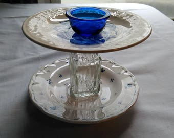 Two Tier Plates Jewelry Holder