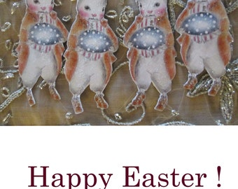 Easter Bunny Ornament Gift tag