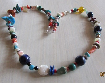 One of a KInd Mixed Bead Necklace. 22""