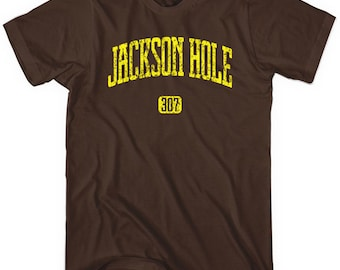 Jackson Hole 307 T-shirt - Men and Unisex - XS S M L XL 2x 3x 4x - Wyoming Tee - 4 Colors