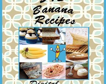 545 Banana Recipes E-Book Cookbook Digital Download
