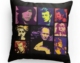 Rock Icons of the 1980's, Rock and Roll Pillow