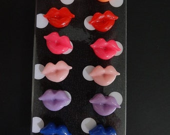 Lip Kisses Earrings Set