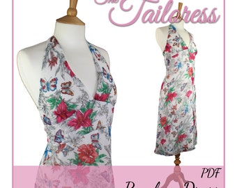 Penelope Halter Neck Dress PDF Sewing Pattern Dress Pdf Pattern Dress Sewing Pattern Halter Neck PDF Sewing Pattern Dress for Women Pdf