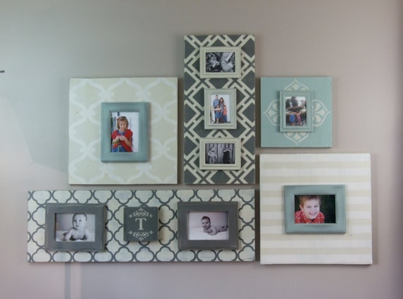 5 Piece Wood Picture Frame Grouping for 5ft Gallery Wall with