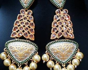 Jhumka earrings, Indian jewelry, Boho earrings, Ethnic earrings, Jhumka, Dangle, Pearl, Undian earrings, Pakistani jewelry, Jhumki, Boho.