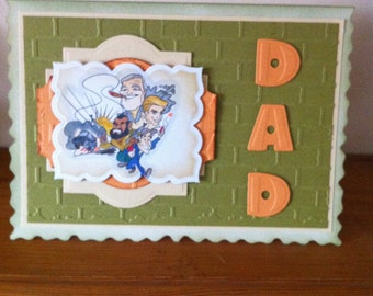Handmade A5 Size Fathers Day/Dad's/ Birthday Card