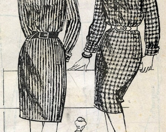 "Vintage dress, the magazine supplement pattern ""women of today ' hui"" January 14, 1965."