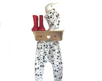 baby harem trousers spots black white , choose your size